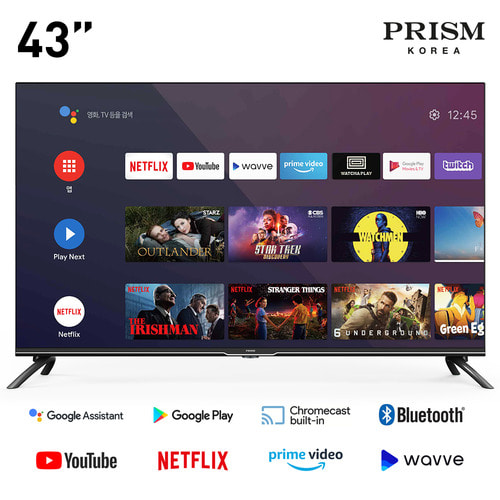 프리즘 43인치 A43i google android TV BT50